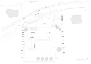 Situation 1:250 Villa familiale von Bureau d'architectes Giorla & Trautmann SA