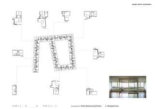 Grundriss OG2 Erlentor von Morger + Dettli Architekten AG
