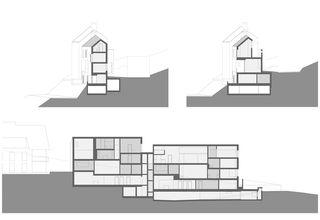 Schnitte Interaktion, 6-Familienhaus von L3P Architekten AG