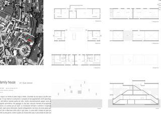 Grundrisse, Schnitt, Fassade Zweifamilienhaus, Rancate von Stocker Lee Architetti
