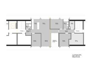 Grundriss 4 1/2 Zi-Wohnung ABZ Wohnsiedlung Sihlfeld: tiefgreifende Sanierung und Aufstockung, Balkonanbauten von Schaffner Architekt