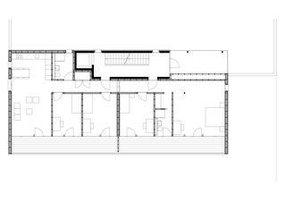 Erdgeschoss MFH Walker-Perler Bitsch (VS) von VOMSATTEL WAGNER ARCHITEKTEN ETH BSA SIA