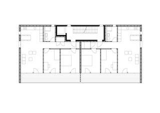 1. Obergeschoss MFH Walker-Perler Bitsch (VS) von VOMSATTEL WAGNER ARCHITEKTEN ETH BSA SIA