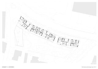 Grundriss Obergeschosse Wohnüberbauung Schutzengel von Leutwyler Partner Architekten AG
