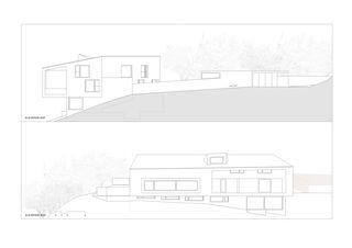 Façade Villa pour deux familles de Bureau d'architectes Giorla & Trautmann SA