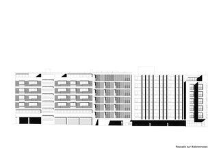 Façade Alderstrasse Mehrfamilienhaus Alder de strasser architektur ag