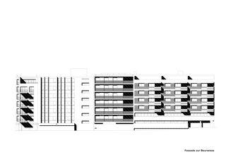 Façade Baurwiese Mehrfamilienhaus Alder de strasser architektur ag