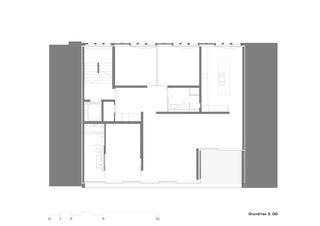 Plan 3e étage Mehrfamilienhaus Alder de strasser architektur ag