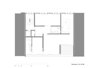 Plans 1er, 2e et 5e étage Mehrfamilienhaus Alder de strasser architektur ag