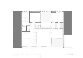 Plan 6e étage Mehrfamilienhaus Alder de strasser architektur ag