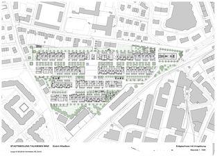 Situationsplan + EG Überbauung Binzallee von Leuppi & Schafroth Architekten AG