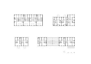 Wohnungstypen Überbauung Binzallee von Leuppi & Schafroth Architekten AG