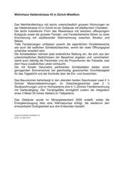 Beschreibung Wohnhaus Haldenstrasse von Leuppi & Schafroth Architekten AG