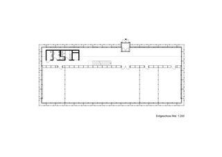 Grundriss Erdgeschoss Gewerbezentrum Punto Bregaglia, Vicosoprano von Architekturbüro Renato Maurizio
