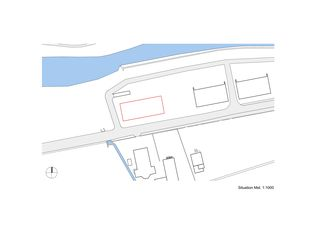 Situation Gewerbezentrum Punto Bregaglia, Vicosoprano von Architekturbüro Renato Maurizio