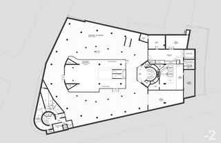"""plan du 2ème sous-sol Transformation des surfaces commerciales """"Les Galeries du Midi"""" à Sion (VS) von Hervé Savioz architecte epf sia"""