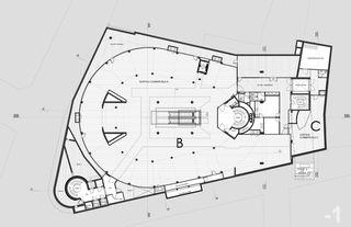 """plan du 1er sous-sol Transformation des surfaces commerciales """"Les Galeries du Midi"""" à Sion (VS) von Hervé Savioz architecte epf sia"""