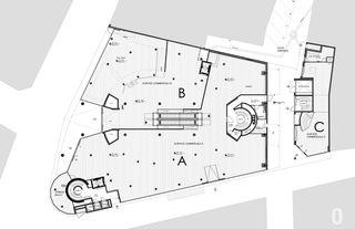 """plan du rez-de-chaussée Transformation des surfaces commerciales """"Les Galeries du Midi"""" à Sion (VS) von Hervé Savioz architecte epf sia"""