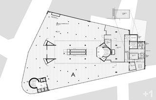 """plan du niveau 1 Transformation des surfaces commerciales """"Les Galeries du Midi"""" à Sion (VS) von Hervé Savioz architecte epf sia"""