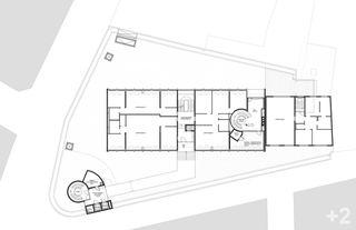 """plan du niveau 2 Transformation des surfaces commerciales """"Les Galeries du Midi"""" à Sion (VS) von Hervé Savioz architecte epf sia"""