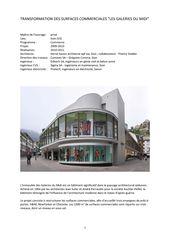"""Galeries du Midi - texte de présentation Transformation des surfaces commerciales """"Les Galeries du Midi"""" à Sion (VS) von Hervé Savioz architecte epf sia"""