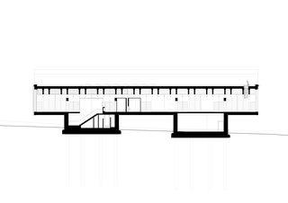 Längsschnitt Büro und Werkhofgebäude L. Gasser & Co AG, Oberhasli von Käferstein & Meister Architekten AG