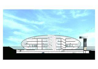 Sezione longitudinale COC - Centro Commerciale Chiasso - Chiasso de Ostinelli & Partners architetti