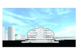 Sezione trasversale COC - Centro Commerciale Chiasso - Chiasso de Ostinelli & Partners architetti