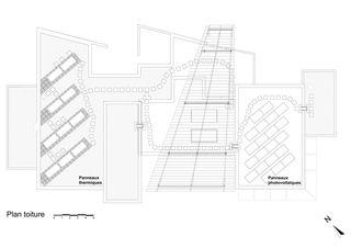 Plan de toiture Déjeuner sous la vague de Atelier Nord Sàrl
