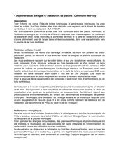 Descriptif architectural Déjeuner sous la vague von Atelier Nord Sàrl