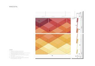 Detail Glasschindelwand Inside-Out: Kundenhalle, Raiffeisen von Bonnard Woeffray architectes fas sia