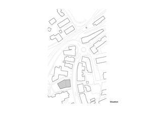 Situationsplan - Einfügung in den Ortskern Raiffeisenbank von Huber Waser Mühlebach GmbH, dipl. Architekten ETH SIA