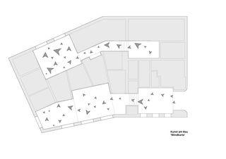 'Windkarte' - zur Erläuterung der Kunst am Bau von Susanne Hofer Raiffeisenbank von Huber Waser Mühlebach GmbH, dipl. Architekten ETH SIA