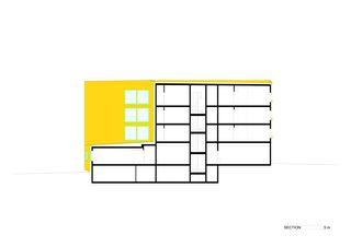 Coupe HPO Etablissement médico-social de Bonnard Woeffray architectes fas sia