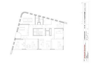 Grundriss 2. Obergeschoss Headquarters Sonnenbau AG von Carlos Martinez Architekten AG