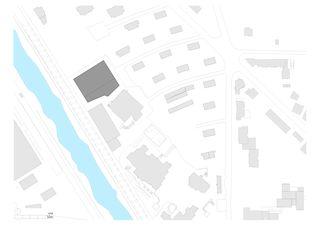 situation salle de sport triple, viège von Savioz Fabrizzi architectes Sàrl