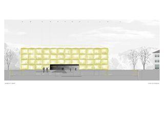 Ansicht West Channoine Cosmetics AG, Verwaltungsgebäude von müller.architekten