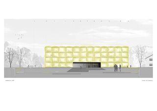Ansicht Ost Channoine Cosmetics AG, Verwaltungsgebäude von müller.architekten