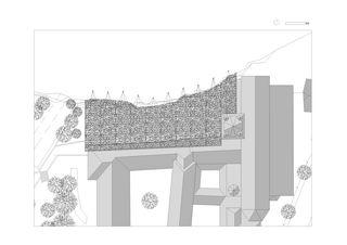 Plan couverture des ruines, st-maurice von Savioz Fabrizzi architectes Sàrl