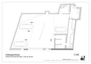 Untergeschoss Bürogebäude BF berger + frank ag von BF berger + frank ag