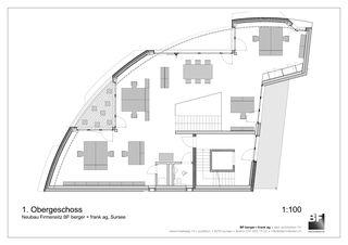 1. Obergeschoss Bürogebäude BF berger + frank ag von BF berger + frank ag