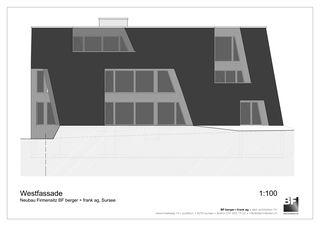 Westfassade Bürogebäude BF berger + frank ag von BF berger + frank ag