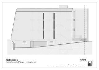 Ostfassade Bürogebäude BF berger + frank ag von BF berger + frank ag