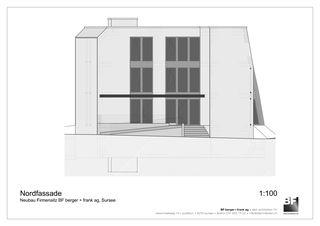 Nordfassade Bürogebäude BF berger + frank ag von BF berger + frank ag