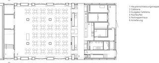 Plan rez-de-chaussée Einbau Mensa Kantonsschule Wettingen de :mlzd
