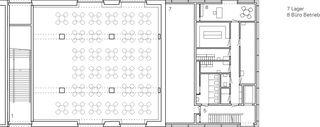Grundriss 1.Obergeschoss Einbau Mensa Kantonsschule Wettingen von :mlzd