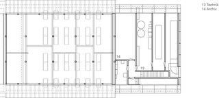 Grundriss 3.Obergeschoss Einbau Mensa Kantonsschule Wettingen von :mlzd