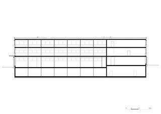 Längsschnitt Gewerbebau Fluh von burkhalter sumi architekten