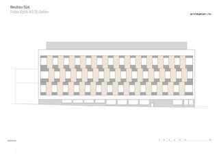 Westfassade Neubau Süd FISBA OPTIK AG St.Gallen von RLC Architekten AG