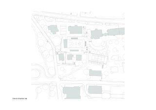Plan de situation Salle de sport polyvalente Brillantmont International School von Frei Rezakhanlou SA architectes